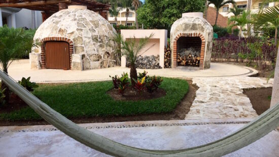 All-inclusive resort sweat lodge with shaman