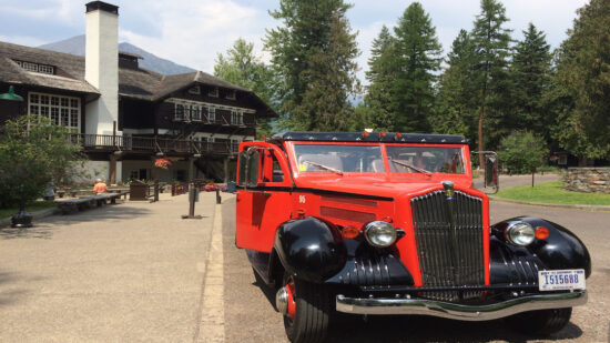 First introduced in 1914, the Rubies of the Rockies glide along the Going-to-the-Sun Road as the Jammer, or tour guiding driver, finds all the best views. Glacier National Park,