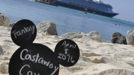 Check out the view from Castaway Cay to the Disney Fantasy