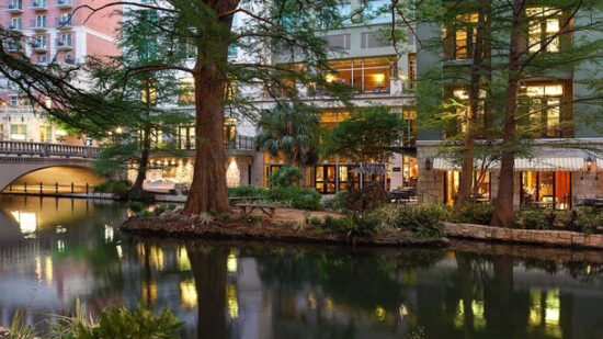 A  nightly amenity fee is charged. For strollering families, the River Walk has numerous bridges to navigate. Pack your smallest stroller for your trip. Valet parking is  a night with unlimited in/out. There are self-park garages nearby. Wi-Fi is complimentary. Hotel Review, luxury hotels on the Riverwalk,