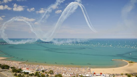 Chicago's Air & Water Show draws huge crowds to the lakefront. It's one of the best free things to do in Chicago.