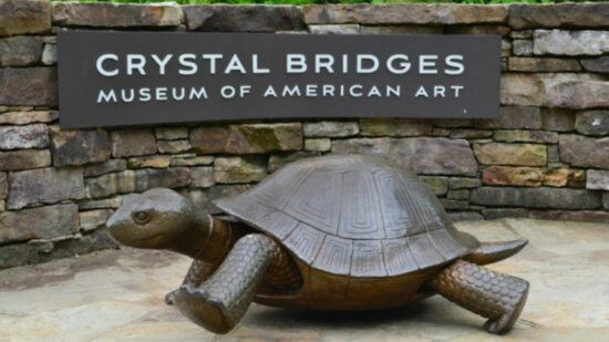 """The immortal story of the """"Tortoise and Hare"""" engage children in art at Crystal Bridges."""
