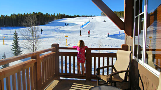Why a condo is key to a successful family ski vacation? It's the view at One Ski Hill Place, Breckenridge.
