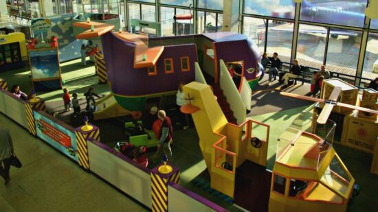 This awesome play area is at O'Hare International Airport.