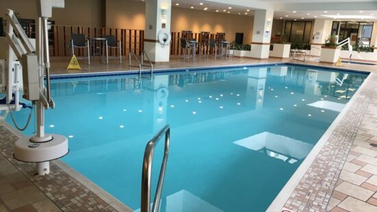 This pool is a big reason the Hilton Salt Lake City Center is a kid-friendly hotel.