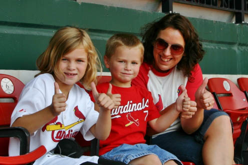 Tips for taking kids to a St. Louis Cardinals game at Busch Stadium.
