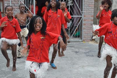 Dancing in Capetown Townships,South Africa