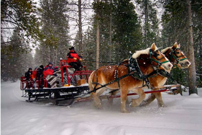 YMCA of the Rockies Snow Mountain Ranch sleigh ride