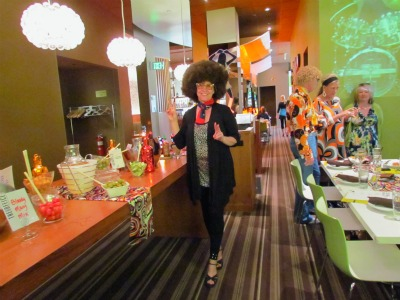 Disco Brunch dress up at the Curtis Hotel's Corner Office RestaurantBrunch