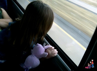 Looking out from the MegaBus