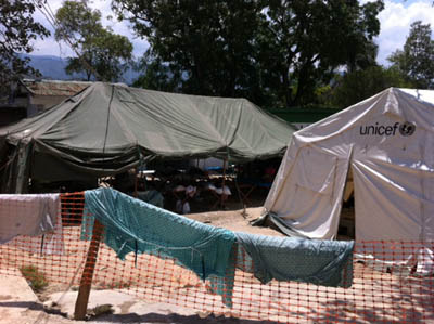Cholera Clinic in Haiti