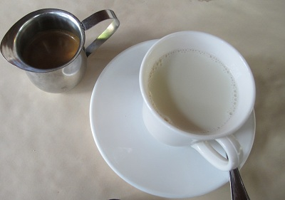 Cafe con leche (coffee with milk) is a big part of a traditional Cuban breakfast.