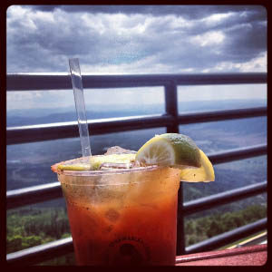 Bloody Marys at the Oasis Sundeck, Steamboat Springs