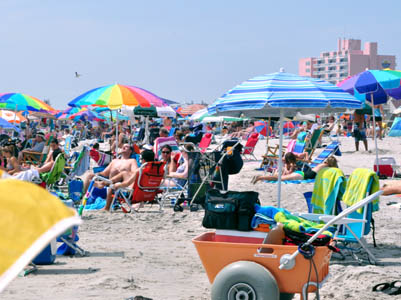 Ocean of umbrellas Ocean City Beach NJ