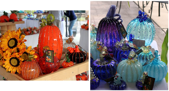 Blown glass pumpkins