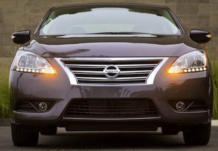 Sentra front headlight