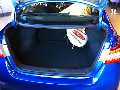 Trunk with surfboard
